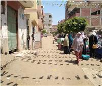 فض سوق قرية وروره بالقليوبية لمواجهة ومنع انتشار فيروس كورونا