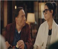 عادل إمام يشارك جمهورة صورة من كواليس فلانتينو مع «هدى المفتي»