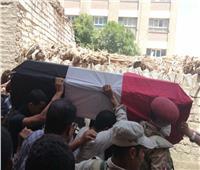 تشييع جثمان المجند أبانوب شهيد حادث بئر العبد في المنيا