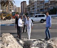 محافظ مطروح يتفقد الأعمال بكورنيش المدينة
