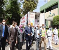 وصول شاحنات صندوق «تحيا مصر» المُحملة بكراتين المواد الغذائية إلى قنا
