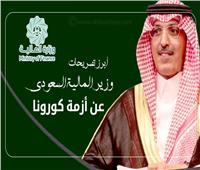 إنفوجراف| أبرز تصريحات وزير المالية السعودي عن أزمة كورونا