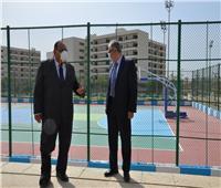تطوير ملعبين رياضيين بجامعة حلوان بدعم من وزارة الشباب والرياضة.