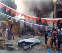 حريق في مصنع «شمع العسل» بالغربية بسبب ماس كهربائي