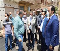محافظ المنوفية يتابع أعمال رصف شارع نفق البساتين بتكلفة 2 مليون جنيه
