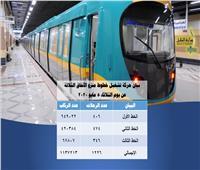 مترو الأنفاق: نقلنا مليونًا و137 ألف راكب أمس الثلاثاء