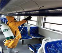 بالصور| هيئة السكك الحديدية تواصلأعمال التعقيم والتطهير