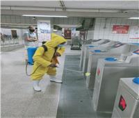 المترو يواصل تطهير القطارات ضد كورونا ليلا