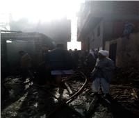 صور| حريق هائل بمنزل سكنى بقها وإصابة 3 أشخاص