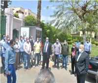 «الخشت» يستقبل العائدين من الخارج لقضاء فترة العزل بالمدينة الجامعية بالجيزة