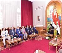 البابا تواضروس يستقبل رئيس المحكمة الدستورية العليا ونوابه