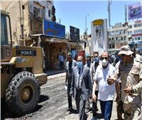 محافظ أسوان : الإسراع بمعدلات تنفيذ مشروع تطوير السوق السياحى وميدان المحطة
