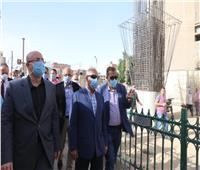 وزير النقل يتابع تنفيذ كوبري المديرية ببني سويف