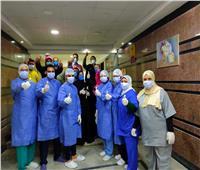 خروج17 حالة من مستشفى الحجر الصحي بالمنصورة