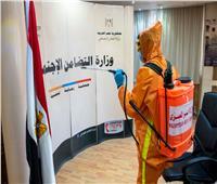 الهلال الأحمر المصري يقوم بتطهير وتعقيم ديوان عام وزارة التضامن الاجتماعي