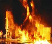 حريق هائل بمخزن مصنع سجاد في الشرقية