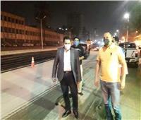 نائب محافظ القاهرة يتابع أعمال رصف حي الأميرية