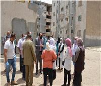نائب محافظ الإسماعيلية يتفقد أعمال ترميم 8 عمارات