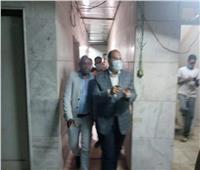 صور| نائب محافظ الجيزة يتفقد أعمال تطوير مستشفى شبرامنت
