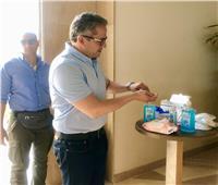 وزير السياحة والآثار يتفقد الإجراءات الوقائية في مطار شرم الشيخ.. صور