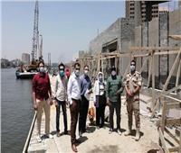 مساعد نائب رئيس المجتمعات العمرانية يتفقد مشروعي ميدان التحرير وممشى أهل مصر