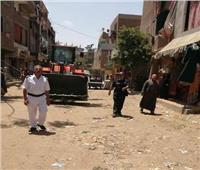 فض سوق الجمعة في أبو الغيط لمنع انتشار كورونا