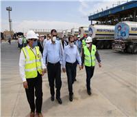 وزير البترول يتفقد مستودع شركة مصر للبترول بمدينة بدر
