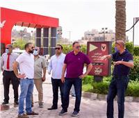 محمود الخطيب يتفقد فرع الأهلي بمدينة نصر