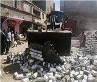 إزالة 43 حالة تعدٍ على أملاك الدولة وخارج الحيز العمراني بدمياط