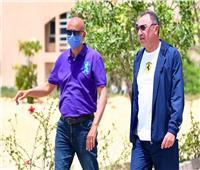 «الخطيب» يتفقد فرع النادي الأهلي بالشيخ زايد