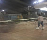رش وتطهير محطه السكة الحديد بمركز ملوي بالمنيا