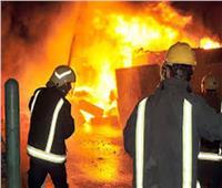 حريق هائل في مصنع مكرونة بالغربية