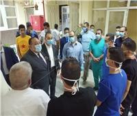 رئيس جامعة حلوان يستقبل الفوج الأول من المصريين العائدين من الخارج