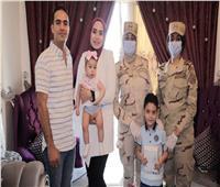 الرئيس السيسي يقدم هدايا عيد الفطر لأبناء وأسر الشهداء والمصابين
