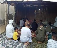 أهالي شمال سيناء يحتفلون بالعيد علي أسطح المنازل