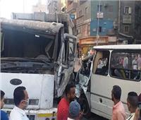 إصابة 6 أشخاص في حادث تصادم بين سيارتين بإمبابة