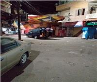 صور| الشرطة خلية نحل بطوخ لتطبيق حظر التجول في العيد