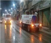 حملات مكثفة لتطهير وتعقيم شوارع دمنهور مساء أول أيام عيد الفطر