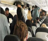 النتيجة «حبر على ورق».. طائرة بريطانية تحاول تطبيق التباعد الاجتماعي