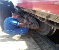 بالكمامة.. صيانة القطارات الإسبانية والـ vip وتعقيم العربات المكيفة والمميز والعادية