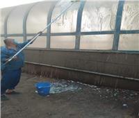 عمليات موسعة للنظافة والتطهير بمحطة مصر للسكة الحديد