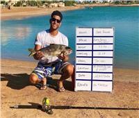 عمر خليفة يسجل رقم قياسي عالمي مصري في صيد الأسماك