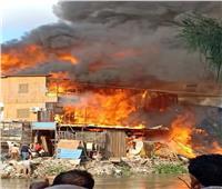 إصابة 5 أشخاص باختناق إثر حريق بمعرض سيراميك بكفر الشيخ