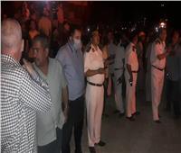 نائب محافظ القاهرة يصل موقع انفجار خط غاز شارع الحرية