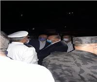 محافظ القاهرة يصل موقع انفجار ماسورة كوبري حلمية الزيتون