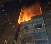 صور| حريق منزل بقليوب والدفع بالحماية المدنية للسيطرة عليه