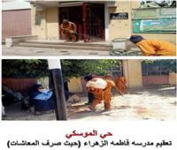نائب محافظ القاهرة يتابع أعمال تعقيم أحياء المنطقة الغربية
