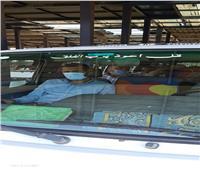صور  حملات مكبرة على موقف المؤسسة بشبرا الخيمة والتشديد على إرتداء الكمامات