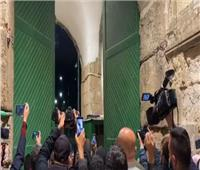 فيديو| اللحظات الأولى لفتح المسجد الأقصى المبارك بعد إغلاق دام 69 يومًا