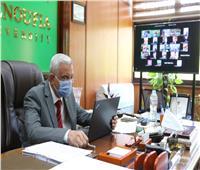 رئيس جامعة المنوفية يتابع تجهيزات تحويل معهد الكبد لمستشفى عزل